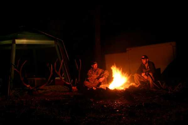 arizona elk hunt campfire