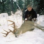 Troy Pottenger with big western whitetail buck