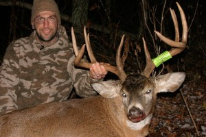 Jarrod Erdody, owner of NextBuk Outdoors, with Wisconsin bow buck