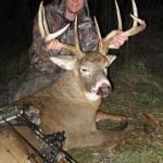 Skip Sligh with mature Iowa archery buck