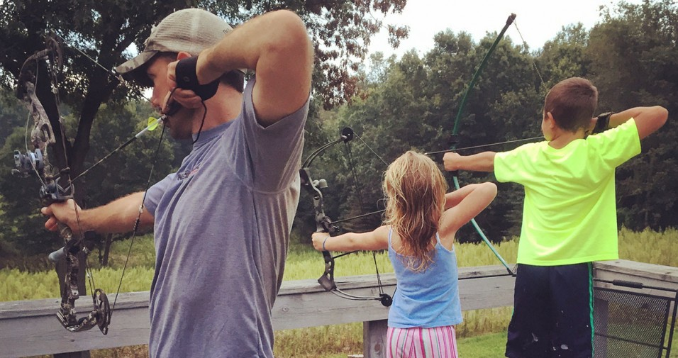 family archery - kids archery - getting kids into archery