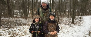 Paul Ranft with Jacob (right) and his buddy, Jack (left). Trapping helps the deer herd and improves woodsmanship skills. Thanks, Paul!