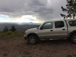 Toyota Tacoma on New Mexico elk hunt