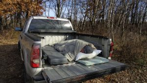 do it yourself whitetail hunt - sleeping in your truck